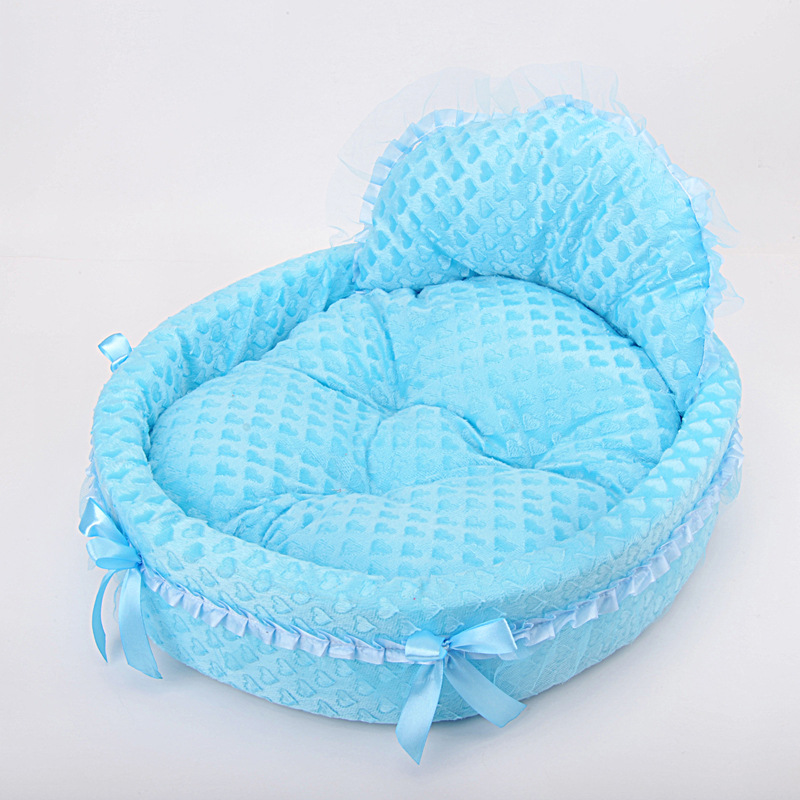 Breathable washable dog bed luxury lace princess bed lovely cool dog pet winter warm soft cat beds sofa teddy house for dogs