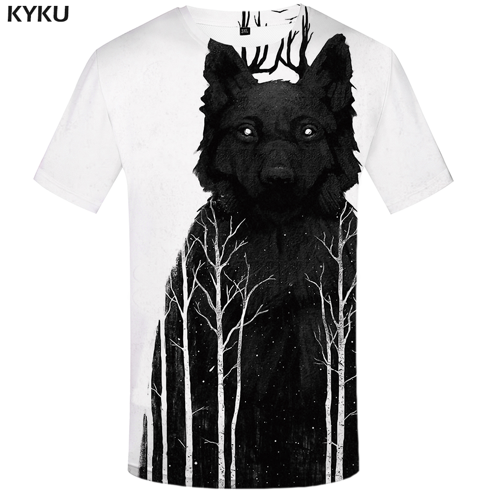 wolf on t shirt