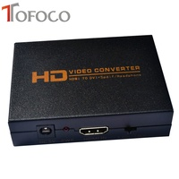 HDMI To DVI Converter W Coaxial Digital Audio Stereo Audio Output Power Adapter For PS4 Xbox1