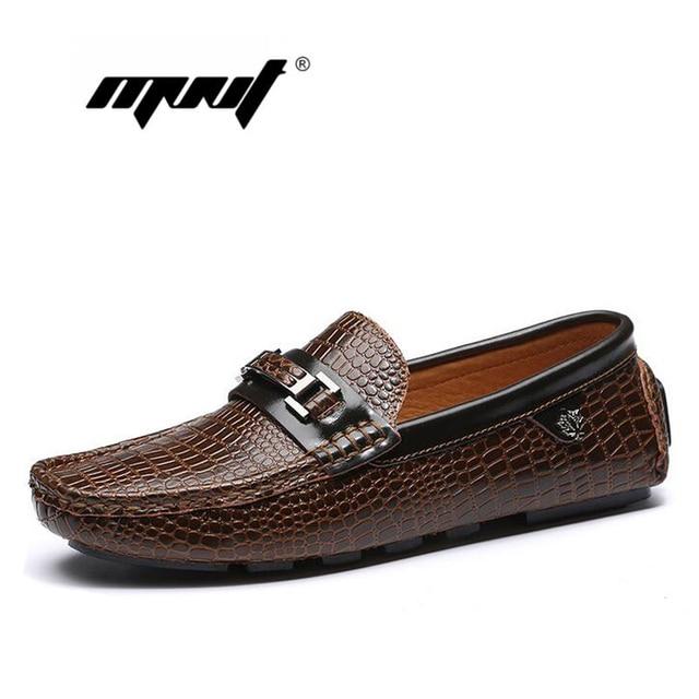 Handmade soft leather men flat shoes,Crocodile men driving shoes soft loafers,Comfortable designer Moccasins