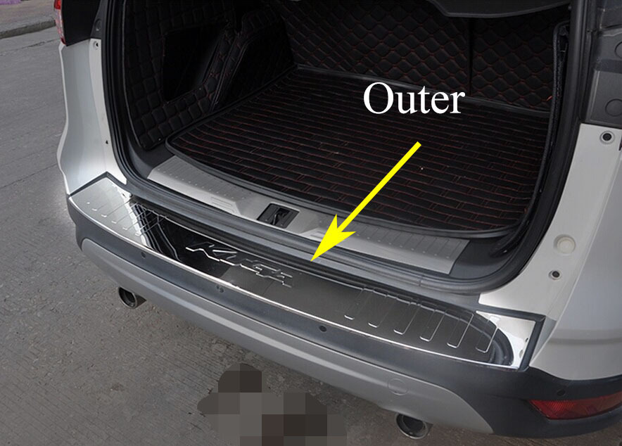 high quality stainless steel rear bumper protector sill plate accessories for ford kuga 2013. Black Bedroom Furniture Sets. Home Design Ideas