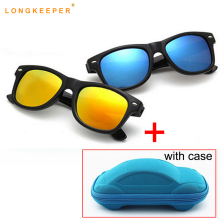 LongKeeper New Hot Kids Sunglasses Boys Baby Girls Children Glasses Sun For Gafas De Sol With Case Gift