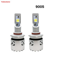 2Pcs 9005/HB3/H10 LED Headlight Bulbs Conversion Kit LENS Cree XHP70 Chip Long Lifespan,White 80W 6500K 12,000LMs High Bright