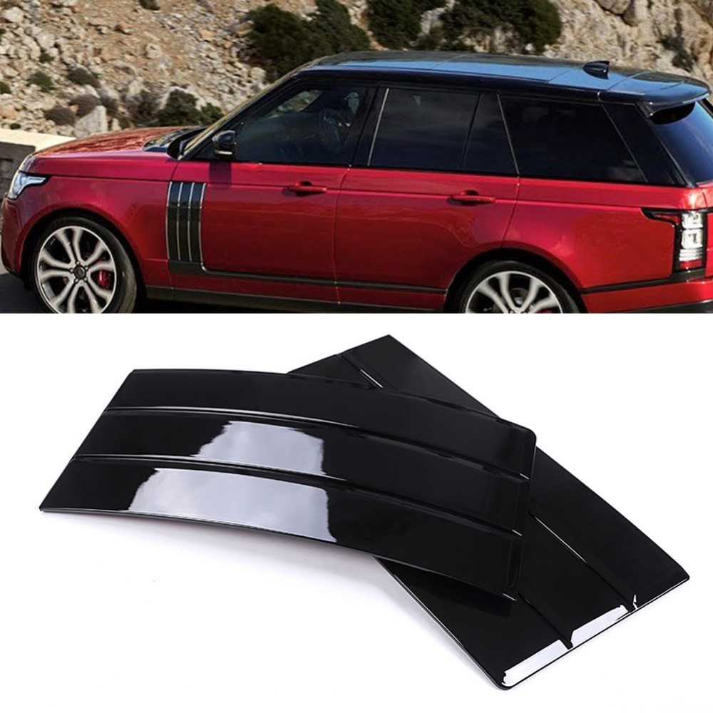 Exterior Decoration ABS Plating Self-adhesive Air Mesh Vent Grille Trim Cover for Land Rover Range Rover 2013-2017 silver front air vent grille cover for land rover range rover vogue 2014 2015 2016