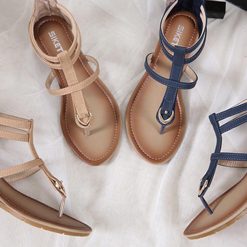 Chaussures Avec Pente Sandalias Mujer Gladiateur D'été Romain Femme Siketu 2018 Sandales Femmes Bleu 4 kaki Mode Confortable Doux A4Hwnq86