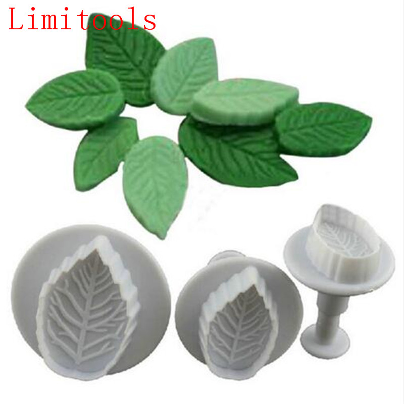 Cake Rose Leaf Plunger 3Pcs Fondant Decorating Sugar Craft Mold Cutter Cake Decorating Pastry Cookie Cake Tools Drop Shipping|cake tools|leaf plungermold cutter - AliExpress