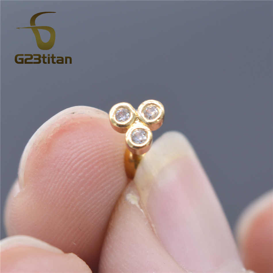 G23titan 16Gต่างหูHelix Piercing Body Helixเครื่องประดับ 6Mmเหล็กผ่าตัดหูกระดูกอ่อนแหวน