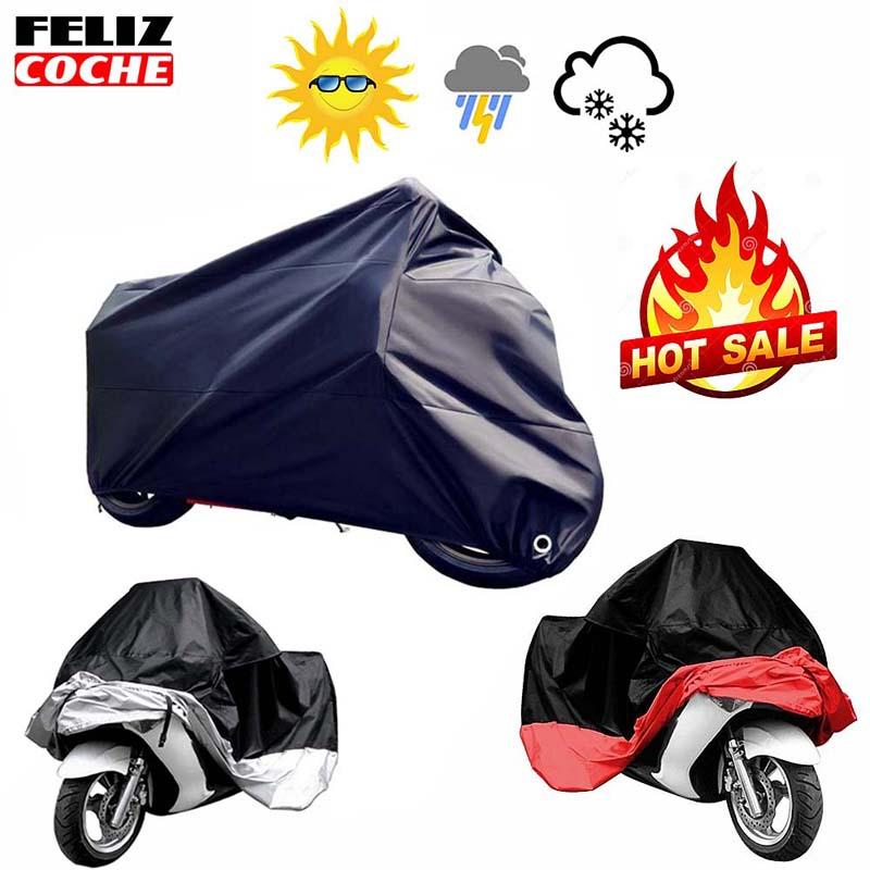 Prix pour Tous les Taille Moto Couverture Imperméable À L'eau En Plein Air Uv Protecteur Vélo Pluie Poussière Moto Moteur Scooter M/L/XL/XXL/3XL/4XL A2123