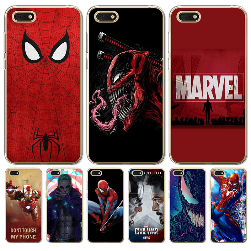 Iron Man For Huawei <font><b>Honor</b></font> 6A 6X 7 7X 7C 7A Pro 8 <font><b>Lite</b></font> 8X <font><b>9</b></font> 10 Nova 2 Plus <font><b>phone</b></font> <font><b>case</b></font> Cover Joker venom <font><b>marvel</b></font> Spiderman Cool image