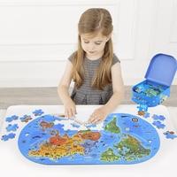 World Map Puzzle 100PCS Human Geography Map Puzzle Children Educational Intelligence Development Jigsaw As Birthday Gifts
