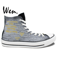 Wen Design Custom Hand Painted Shoes Nightmare Before Christmas for Men Women's High Top Canvas Sneakers