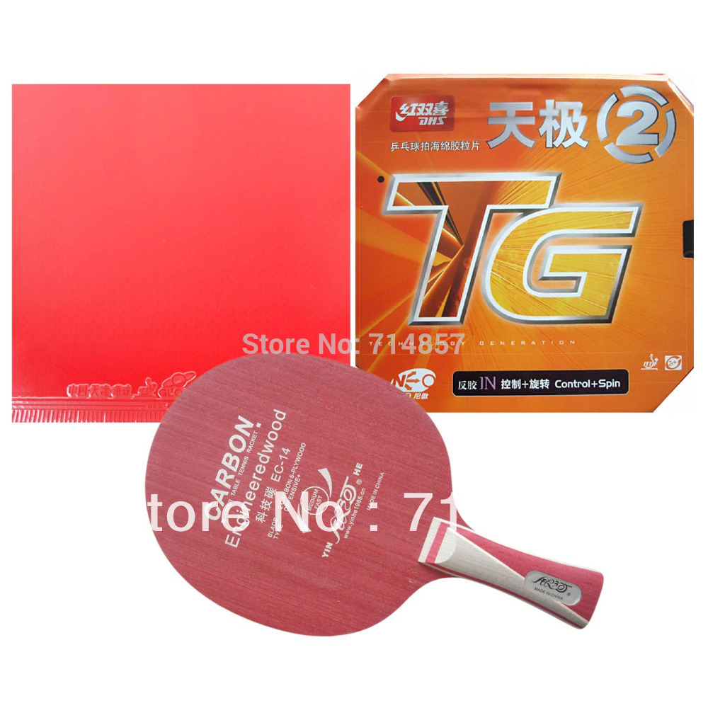 Milky Way EC-14+Globe 999 China National Version and DHS NEO Skyline TG2 rubber with sponge for a racket Long Shakehand FL