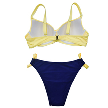 Sexy Bikini Set Women Solid Push Up Bikinis Two Pieces Swimsuit Women Swimwear S-XL Bathing Suits Patchwork Beachwear Biquini