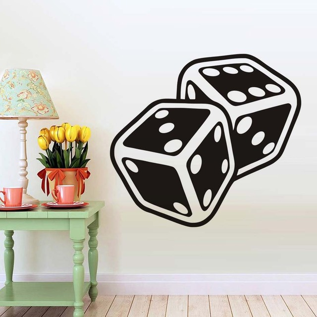 Dice Suits Wall Decals Vinyl Stickers For Living Room Interior ...