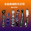6 pcs/lot Crystal glass anal plug anal dildo toy sex products butt plug male masturbator erotic toys adult gay sex toys for men
