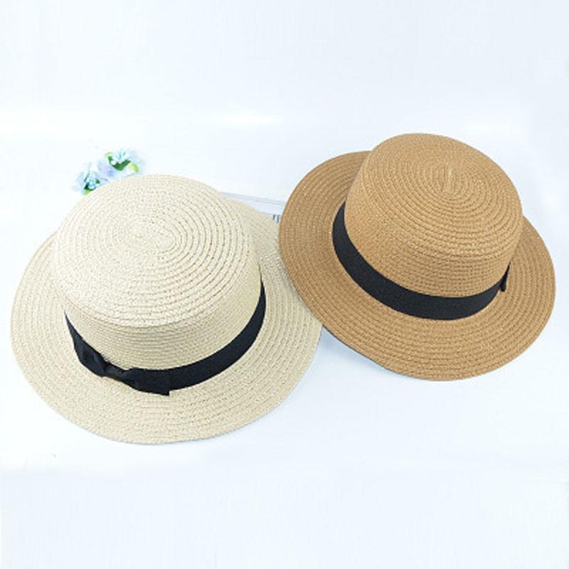 EUA  5.89 moda verão pequena cerimônia chapéu de palha de abas largas ha. ea7ae737de0
