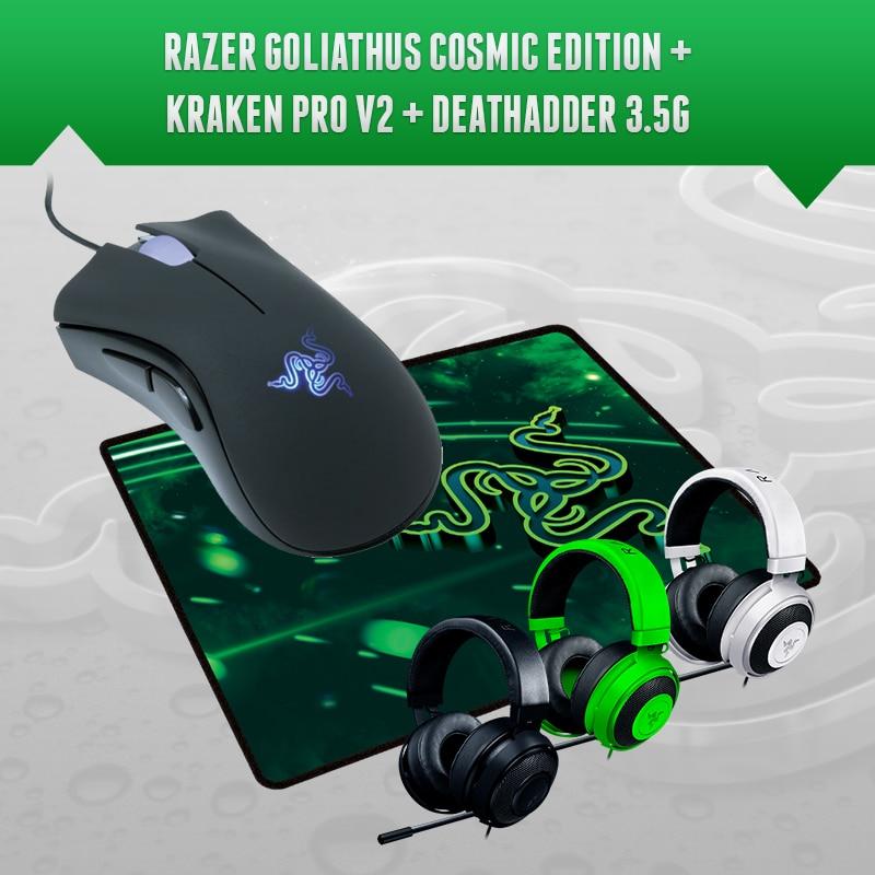 Razer Deathadder 3 5G 3500 DPI Synapse 2 0 Kraken pro v2 Gift Mousepad Brand new