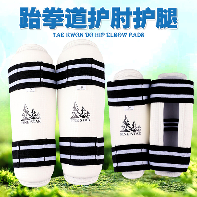 Taekwondo Shin & Arm Professional Guard Boxing Protector Sparring Gear WTF CE Comfortable Absorb Sweat 4 piece/Pack Fight Winner
