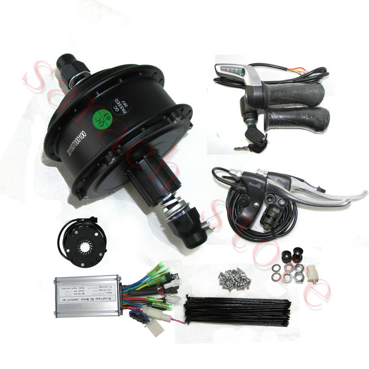 250w 36v 36hole brushless geared hub motor,electric mountain bike conversion kit , dc electric motor