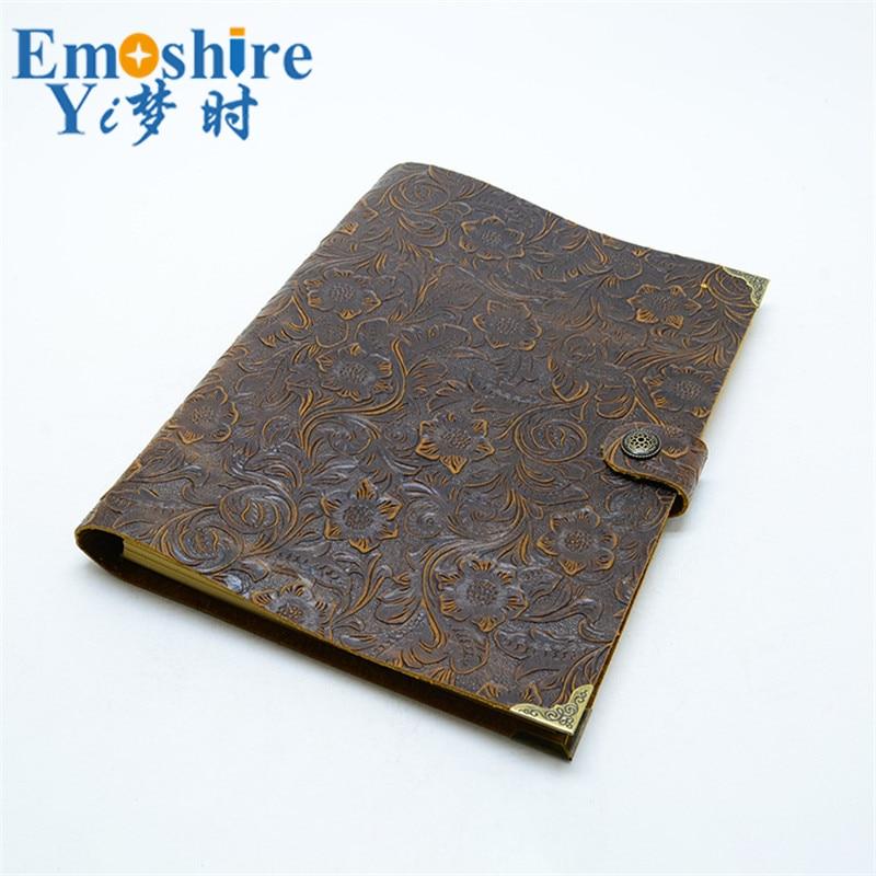 где купить 100% Genuine Cowhide Leather Cover Notebook Handmade Travelers Notebook Diary Journal Classic Vintage Style Free Shipping N126 по лучшей цене