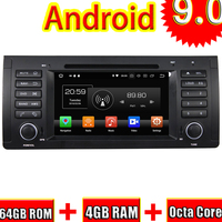 Topnavi 4 ядра Android 9,0 автомобильный gps навигации для BMW M5 E39 (1995 2003) X5 E53 (2000 2007) Автомобильный мультимедийный DVD Радио стерео