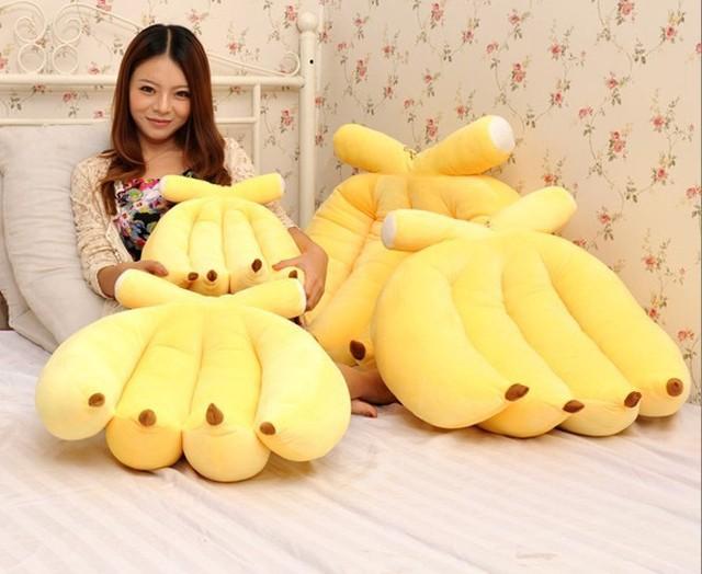 Super 45 cm de banana brinquedo de pelúcia macia brinquedos de pelúcia bonito pliiow presente presentes de natal de presente de aniversário crianças frete grátis