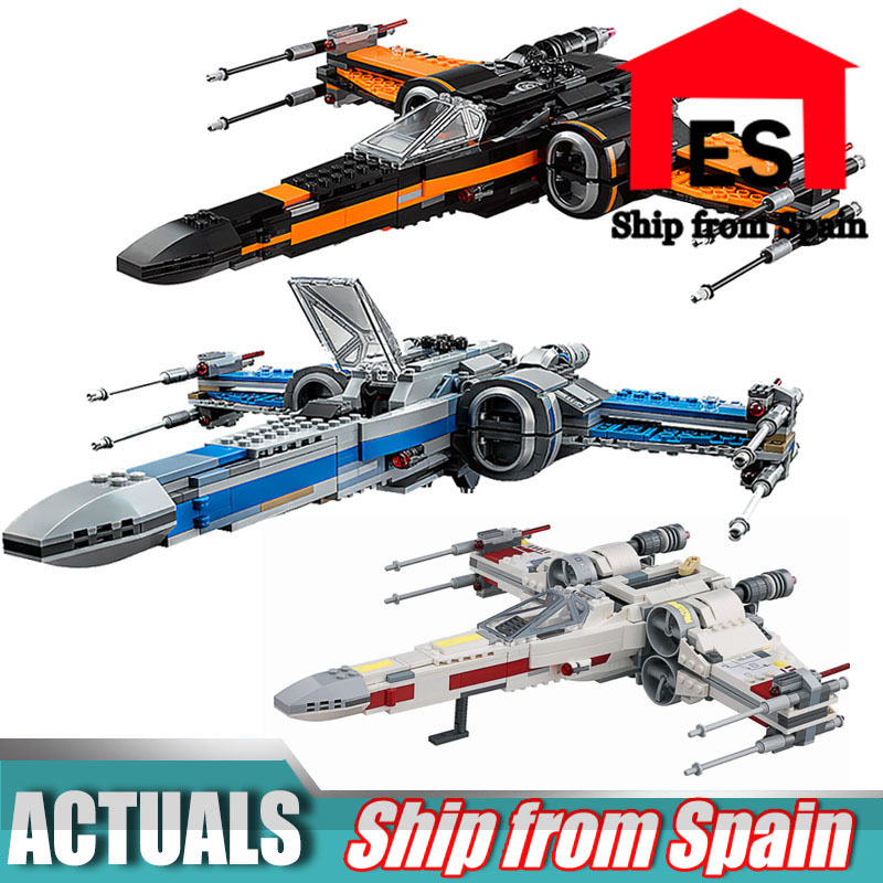 Starwars 05004 05145 05029 X Wing Star Tie Fighter Building Blocks Compatible Legoing 75149 Start Wars Children Toy-in Blocks from Toys & Hobbies
