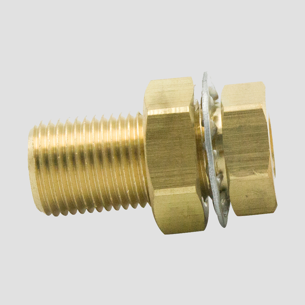 Fitting Pipe Bulkhead NPT 1//2 Male to 1//4 Female Adapter Brass