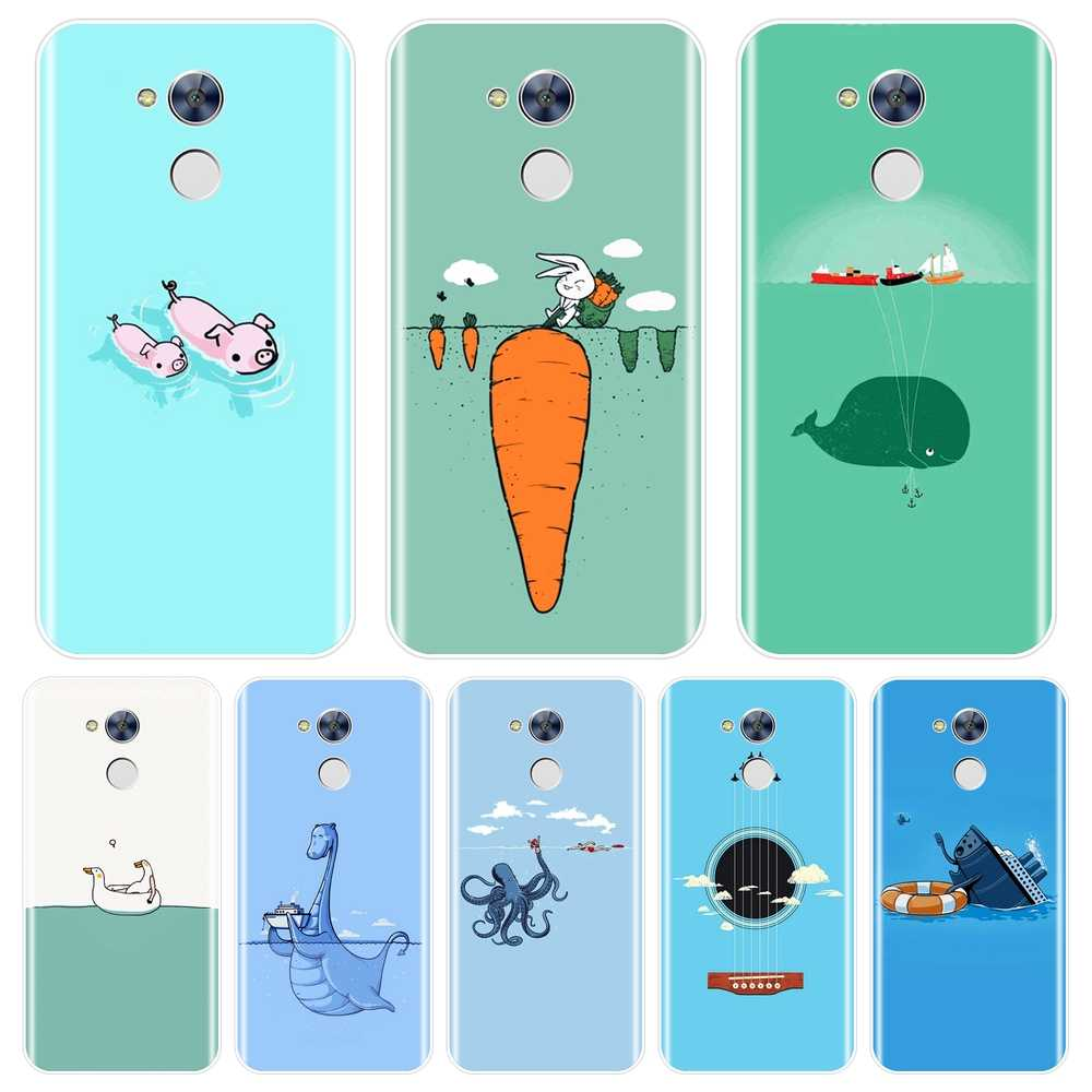 Phone Case For Huawei Honor 4C 5C 6A 6C Pro Case Silicone Pig Rabbit Blue Duck Soft Back Cover For Huawei Honor 6 5A 4X 5X 6X