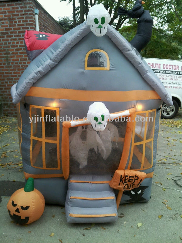 Lowes yard decor halloween inflatable haunted house