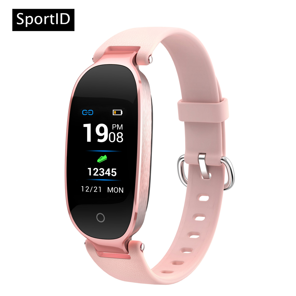 New Smart Bracelet Women Heart Rate Monitor Sport Fitness Tracker Watch Waterproof S3 Bl ...