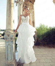 Free Shipping Mermaid Sweetheart Court Train Top Beaded Wedding Gowns 2013 By Riki Dalal AW435