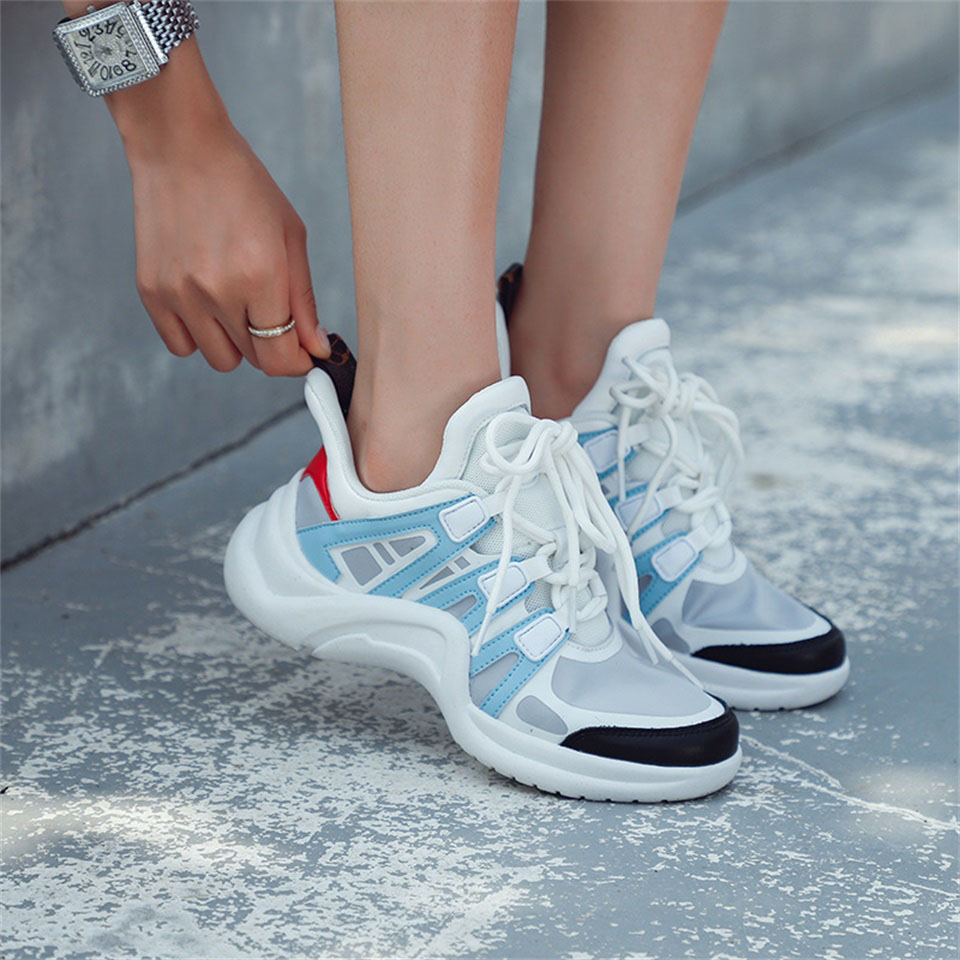 2019 fashion summer and autumn women 39 s shoes high quality breathable fabric comfortable sports shoes women in Women 39 s Vulcanize Shoes from Shoes