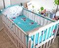 Promoção! 5 pcs bedding set roupa de cama de bebê crib bumper malha do bebê para menina menino lençol, inclui :( 4 bumper + ficha)