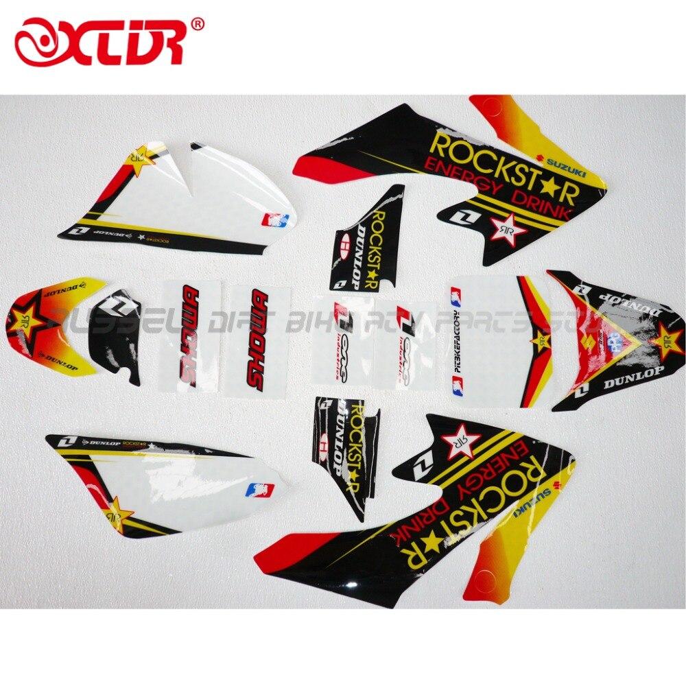 RRockstar графическая наклейка наклейки Наборы для Honda CRF50 CRF50F стиль питбайк