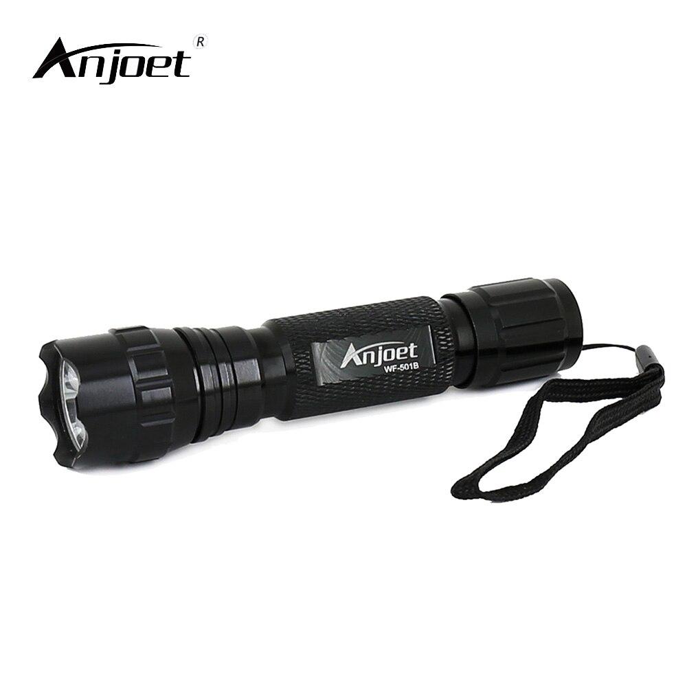 ANJOET Mini taktická svítilna WF-501B XML T6 LED svítilna pro lovecké svítilny 1 režim / 5 režim Tactical camping nouzové osvětlení