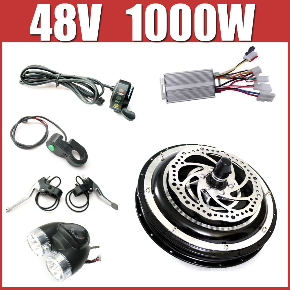 48V 1000W Electric Bike Disc brake kit ,DC hub motor conversion kits ,ebike kits ,Front wheel or rear wheel ,free shipping 25165
