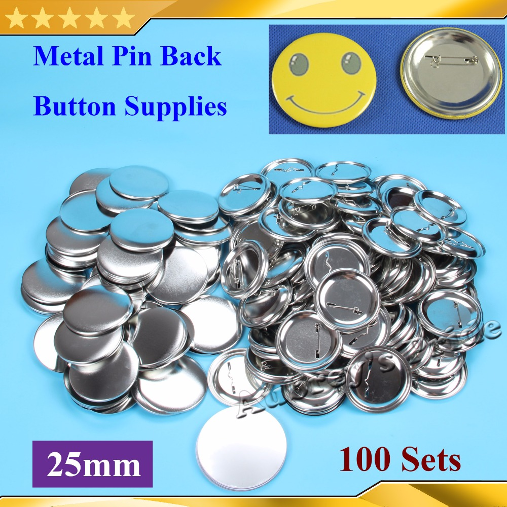 Office & School Supplies 1 25mm 100 Sets New Professional All Steel Badge Button Maker Pin Back Metal Pinback Button Supply Materials