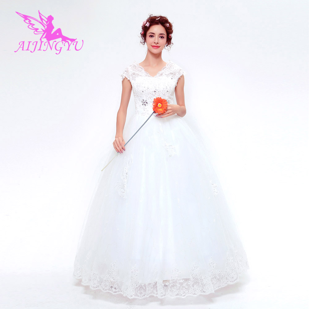 AIJINGYU 2018 new free shipping china bridal gowns cheap simple wedding dress sexy women girl wedding dresses gown TS136