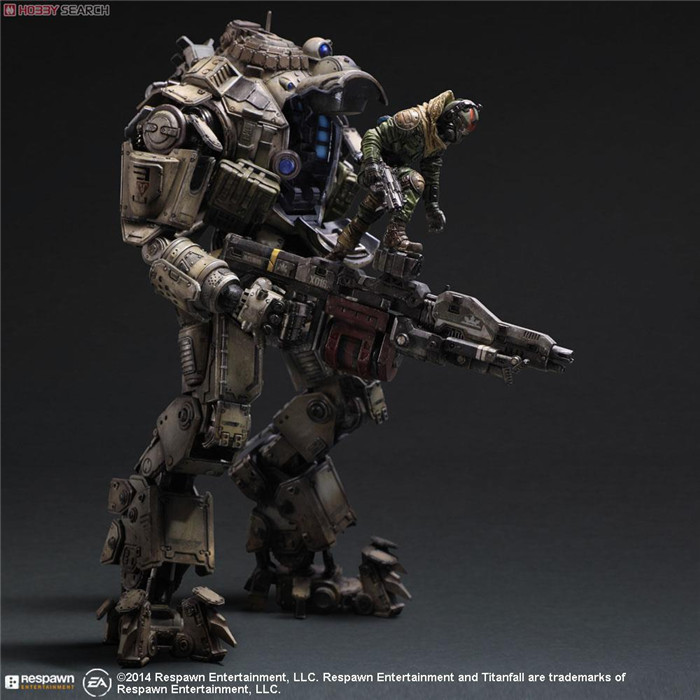 ФОТО Titanfall Action Figure Play Arts Kai Atlas PVC Toys 270mm Anime Games Model Titanfall Atlas Playarts Kai