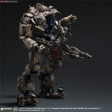 Titanfall Action Figure Play Arts Kai Atlas PVC Toys 270mm Anime Games Model Titanfall Atlas Playarts Kai