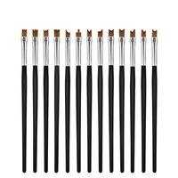 הגעה חדשה 13 יח'\סט צורה שונה ציור ציור עט אמנות מברשות מברשות עיצובי ציפורניים לציפורני UV ג 'ל מברשת סט