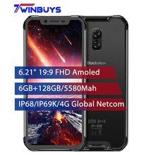 Blackview BV9600 Pro IP68 Wasserdicht Gesicht ID Handys Android 8,1 6GB + 128GB 6.21