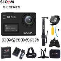 Cámara de Acción estabilizadora Original SJCAM SJ8 4 K 1200 mAh cámara de acción deportiva impermeable WiFi cámara de vídeo remota HD DVR cámara de coche
