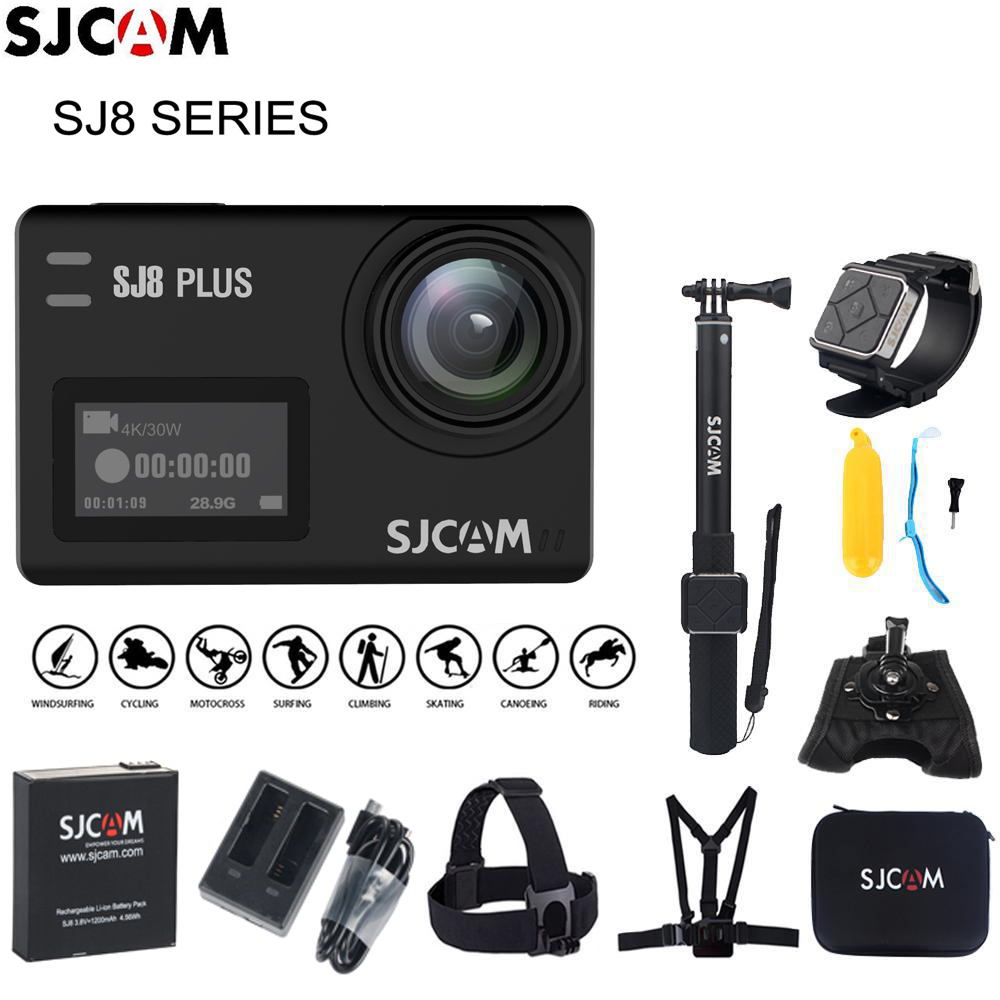 Original SJCAM SJ8 Stabilisator Action Kamera 4 karat 1200 mah Wasserdichte Sport Action Kamera WiFi Remote Video Kamera HD DVR auto Kamera