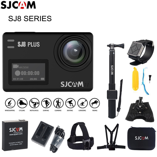 Original SJCAM SJ8 Stabilizer Action Camera 4K 1200mAh Waterproof Sport Action Camera WiFi Remote Video Camera HD DVR Car Camera