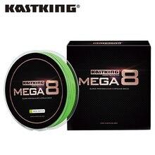 KastKing Mega8 Новый Кос Линия 300Yds/274 М 0.14-0.50 мм 10-80LB 8 Пряди Super Strong Зеленый Плетеный Лески для Морской Рыбалки