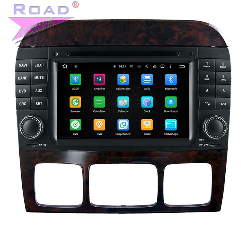 Roadlover 2G+16GB Android 7.1 Car DVD Player For Benz S W220 (1998-2005) Stereo GPS Navigation Quad Core Head Unit Radio 2Din 3G