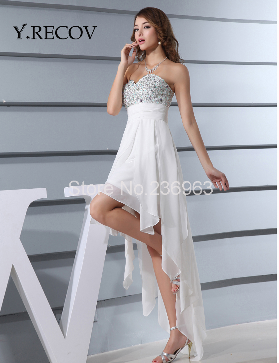 Aliexpress.com : Buy Junior Prom Dresses YD2197 A line Beading White ...