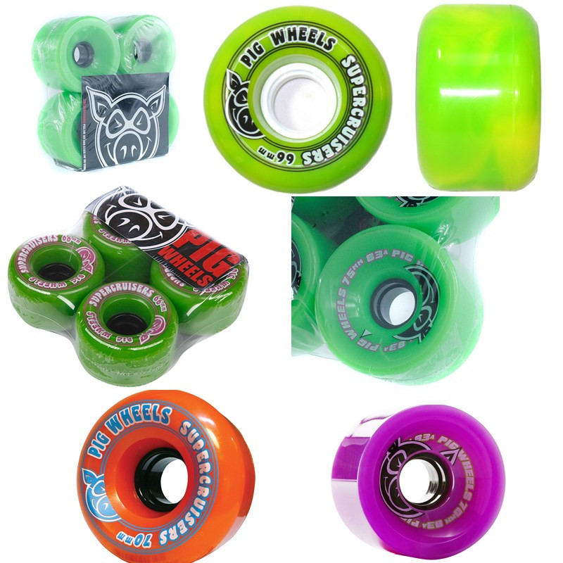 USA PIG Element 4pcs Skateboard Wheels 70mm Professional Cruiser Longboard Wheels 83A 85A Ruedas Patines Aggressive Rodas Skate